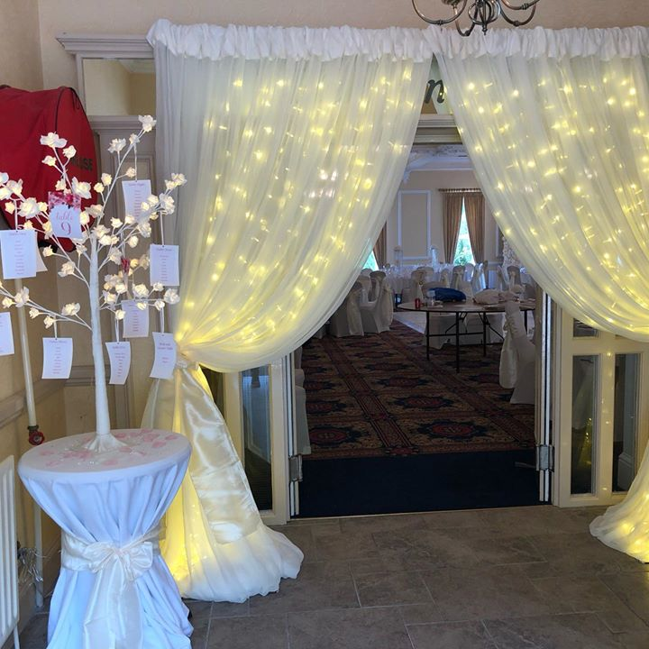 Entrance drapes give a warm and inviting plus pretty first impression to your Wedding reception x #weddingdays #weddingdecor #weddingdecoration #weddingdecorations