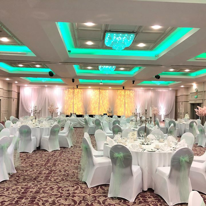 We specialise in draping, with every pleat being perfect you can't help but fall in love. Our luxurious Fairylight draped backdrop & chair covers with mint looked so pretty for our lovely coupes a...